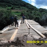 Ponte reconstruída pela terceira vez em Borboleta